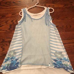 Other - FUN & FUN girls blue top/tank/blouse size 7